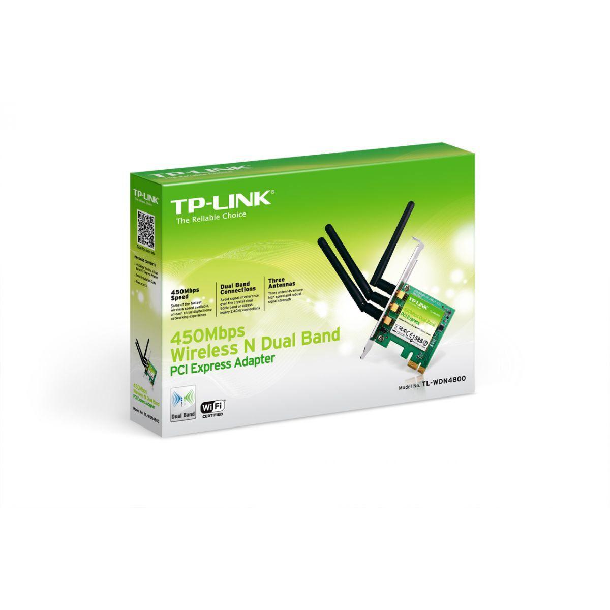 Wireless Adaptador Pci Exp. Tp-Link Tp-Wdn4800 450mbps 3 Antenas