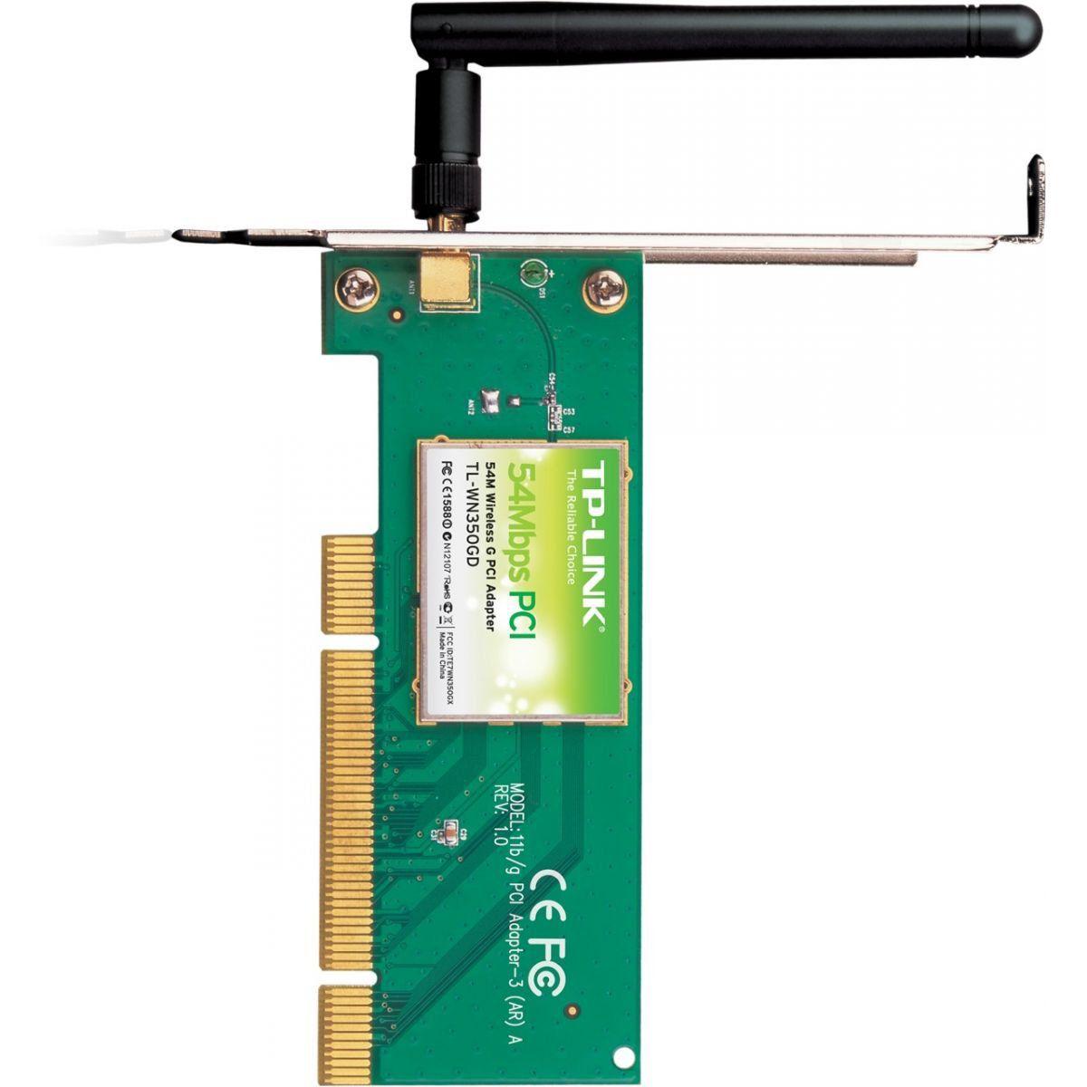 Wireless Adaptador Pci Tp-Link Tl-Wn350gd 54mbps