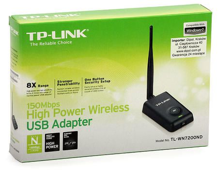 Wireless Adaptador Usb Tp-Link Tl-Wn7200nd 150mbps (Antena 5dbi)