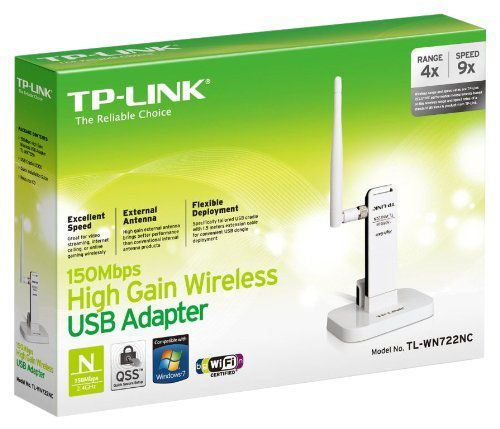 Wireless Adaptador Usb Tp-Link Tl-Wn722nc 150mbps *Oem* (Antena Destac.)