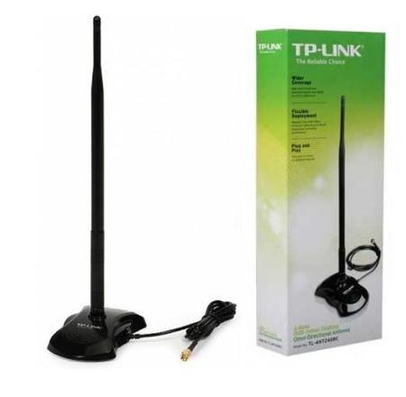 Wireless Antena Tp-Link 8dbi Tl-Ant2408c Cabo 1.30m Sma 2.4ghz