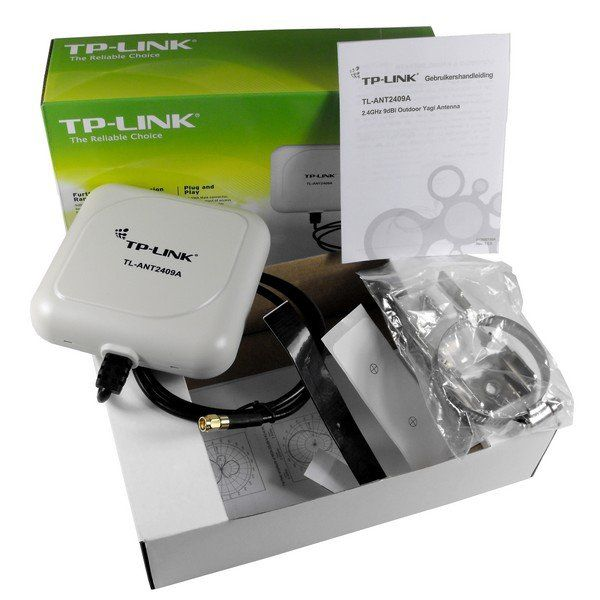 Wireless Antena Tp-Link Outdoor 9dbi Tl-Ant2409a Yagy-Direcional 9dbi Cabo 1m Conector N 2.4ghz