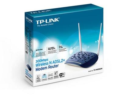 Wireless Ap/Router/Adsl2+/Wireless Tp-Link Td-W8960n 300mbps Mimo 4p