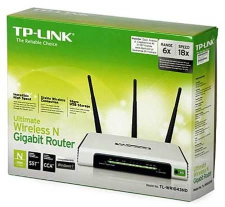 Wireless Ap/Router Tp-Link Tl-Wr1043nd 300mbps 4lan/ 1wan/ 1usb