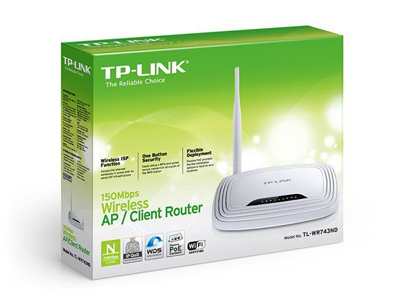 Wireless Ap/Router Tp-Link Tl-Wr743nd 150mbps (C/ Funcao Acess Point) *Oem*