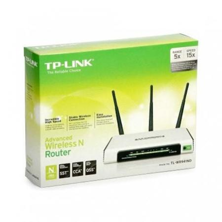 Wireless Ap/Router Tp-Link Tl-Wr941nd 300mbps 3 Ant. Dest. *Oem*
