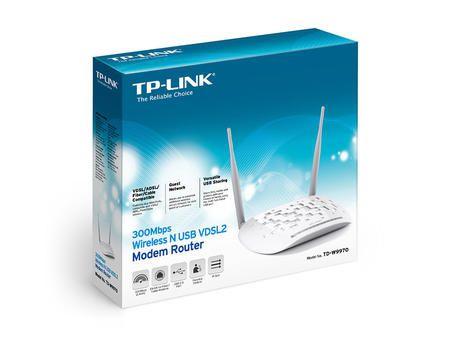 Wireless Modem Router Vdsl2 Td-W9970 300Mbps Usb