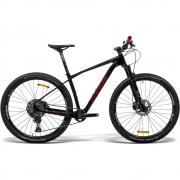 Bicicleta aro 29 GTS M1 RAV HT 2 Quadro Carbono Rígido Kit Deore XT Suspensão Rock Shox SID / Rav HT2 Deore XT 1x12