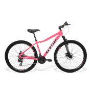 Bicicleta Feminina GTS Aro 29 Freio a Disco Câmbio Traseiro Shimano 24 Marchas e Amortecedor  GTS M1 Ride