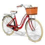 Bicicleta Feminina GTS Retrô City Aro 26 com Cestinha e Para-lama  GTS M1 Retrô City