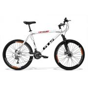 Bicicleta GTS Aro 26 Freio a Disco Câmbio Shimano 21 Marchas e Amortecedor + Velocímetro de Brinde | GTS M1 Walk 2.0