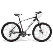 Bicicleta GTS Aro 27.5 Freio a Disco Câmbio Shimano TZ 24 Marchas, Amortecedor + Mini Bomba de Brinde | GTS M1 Advanced Ne