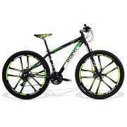 Bicicleta GTS Aro 29 Freio a Disco Câmbio Shimano Tourney 21 Marchas Amortecedor e Roda de Magnésio| GTS M1 New Expert 2.0