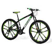 Bicicleta GTS Aro 29 Freio a Disco Câmbio Shimano Tourney 21 Marchas Amortecedor e Roda de Magnésio| GTS M1 New Expert 2.0 Magnésio