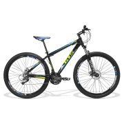 Bicicleta GTS Aro 29 Freio a Disco Câmbio Shimano 21 Marchas e Amortecedor com Trava + Squeeze + suporte de Brinde | GTS M1 Taurus