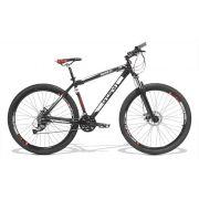 Bicicleta GTS Aro 29 Freio a Disco Câmbio Shimano Altus 27 Marchas e Amortecedor + Velocímetro e Squeeze com Suporte de Brinde | GTS M1 Advanced New