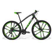 Bicicleta GTS Aro 29 Freio a Disco Hidráulico Câmbio MX9 27 Marchas e Amortecedor com Rodas de Magnésio   GTS M1 I-VTEC MX9 Magnésio