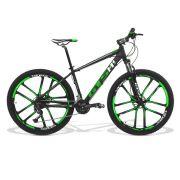 Bicicleta GTS Dynamic Aro 29 Freio a Disco Hidráulico Câmbio Shimano Alívio 27 Marchas + Amortecedor e Rodas de Magnésio | GTS M1 Dynamic Alívio