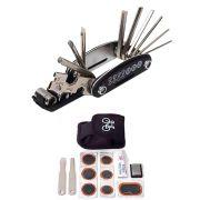 Canivete Chave 15 Funções + Kit Remendo Espatulas e Estojo