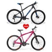 Bicicletas Dia dos Namorados GTS M1+ Brindes  Capacetes + Squeezes + Suportes|Combo 2