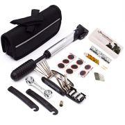 Estojo Kit de Ferramentas Bike c/ Acessórios + Bomba + Kit Remendo