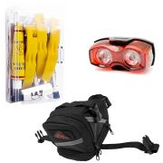 Kit Black 05 - Bolsa para Selim - Estojo de Reparos - Lanterna
