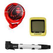 Kit Cadeado - Mini Bomba e Velocímetro
