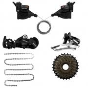 Kit GTSM1 3x8 TSI8 (Câmbios, Trocador, Corrente, Roda livre)