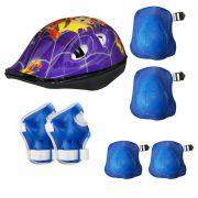 Kit proteção infantil GTSM1 capacete + joelheira / cotoveleira e luvas