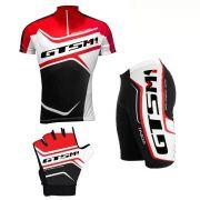 Kit Roupa para Ciclismo - Camiseta + Bermuda Gel + Luva