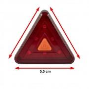 Lanterna traseira Led Triangulo Bainbow Recarregável  CL-108