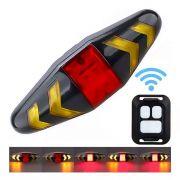 Lanterna Traseira Led Wifi Usb com Controle Remoto da Seta