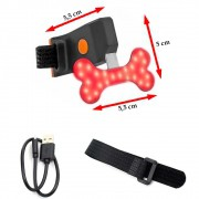 Sinalizador traseira Led Bicycle Tail Lamp Osso