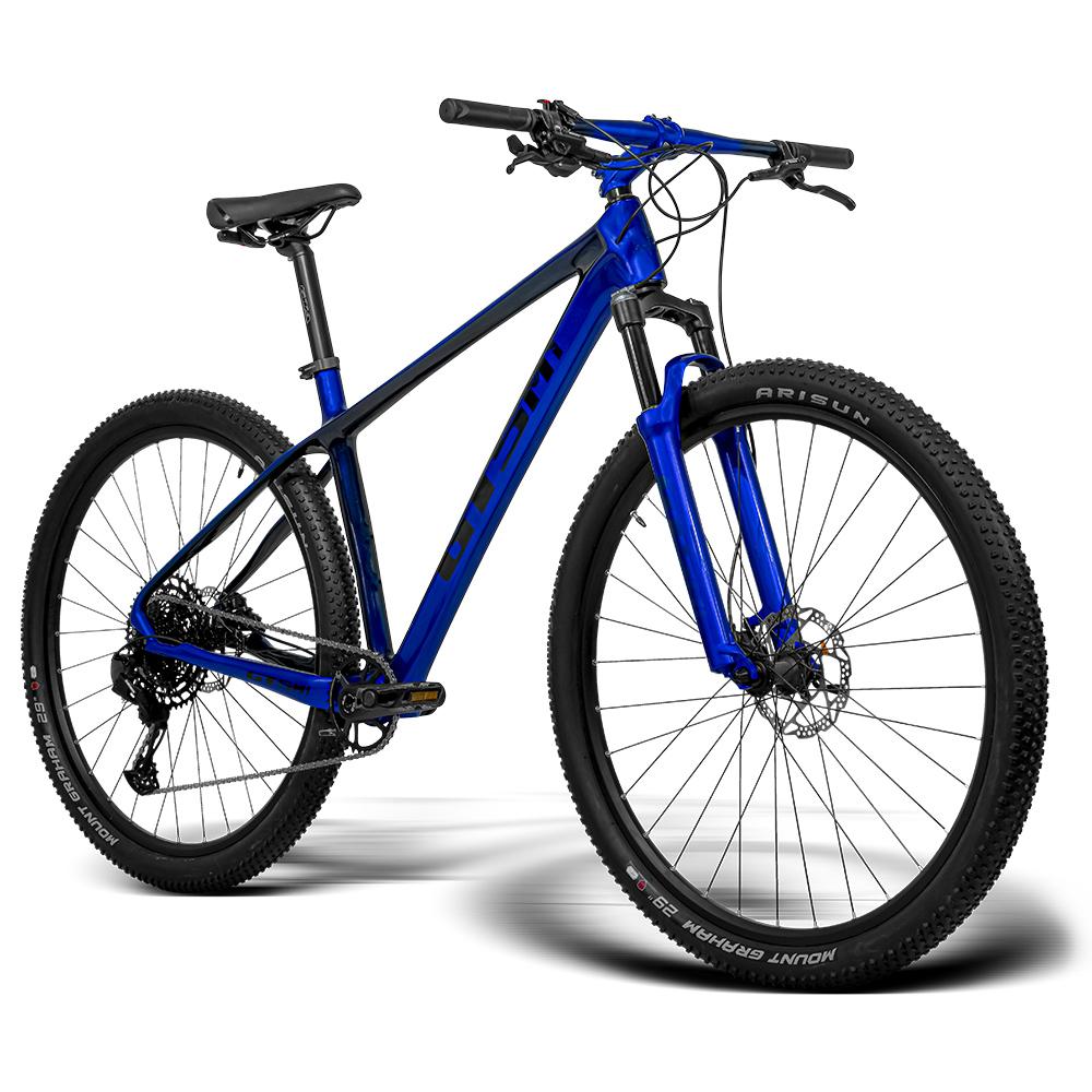 Bicicleta aro 29 Carbono GTSM1 Kit Sram Sx 1x12 e Suspensão com Trava no Guidão   GTSM1 Blue Edition Carbono 1x12