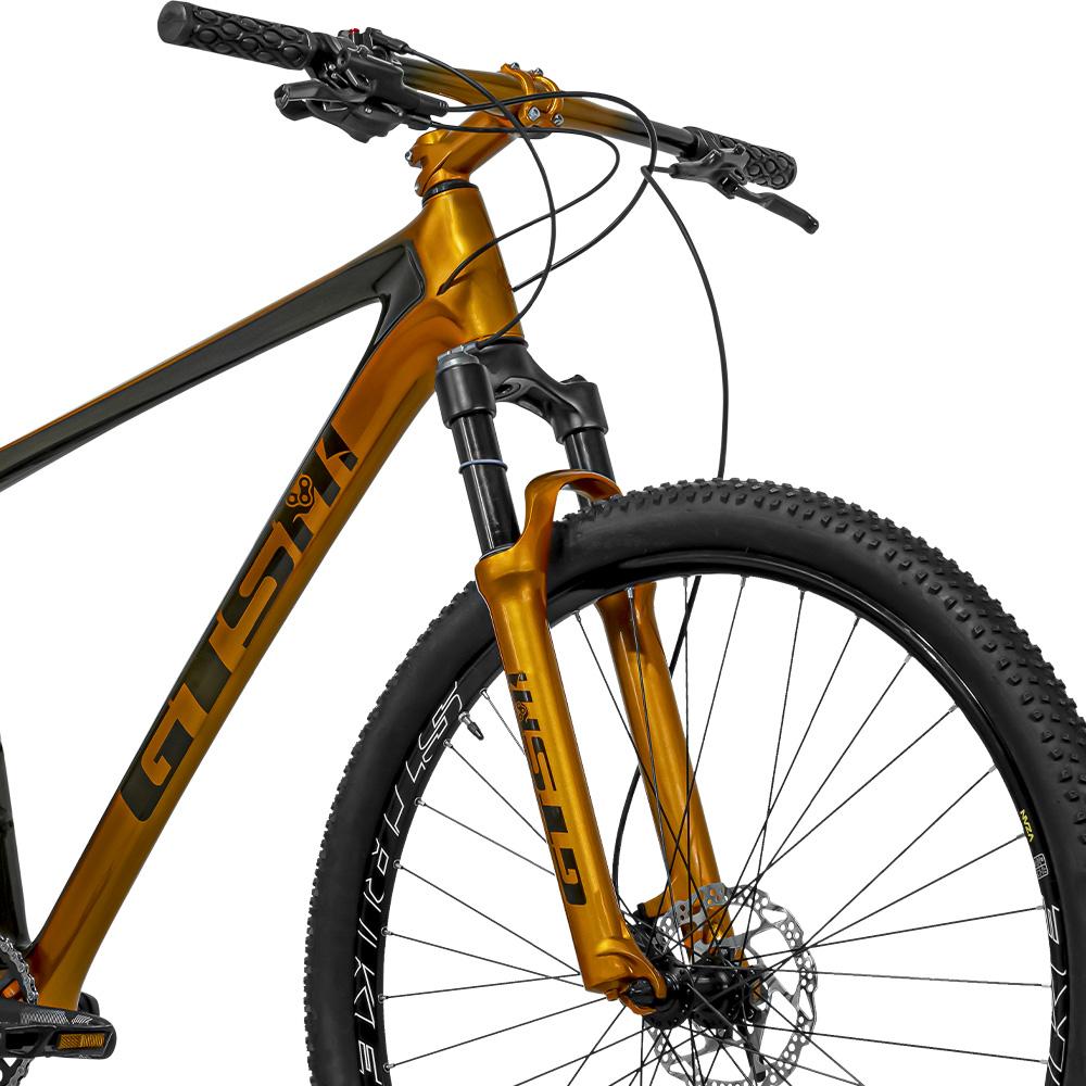 Bicicleta aro 29 Carbono GTSM1 Kit Sram Sx 1x12 e Suspensão a ar com Trava no Guidão | GTSM1 Gold Edition Carbono 1x12