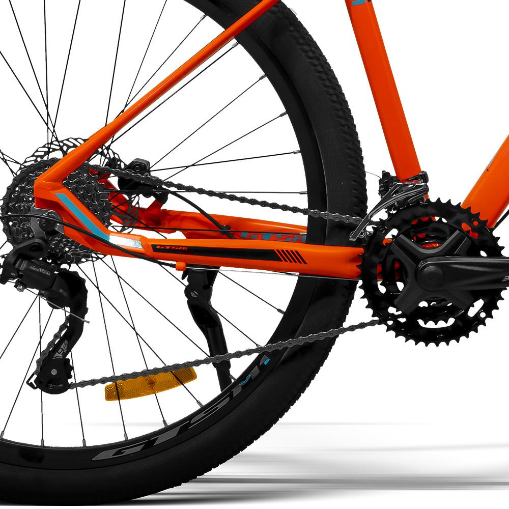 Bicicleta aro 29 Gts m1 27 Marchas Freio a disco Hidráulico e amortecedor com trava / GTSM1 G900