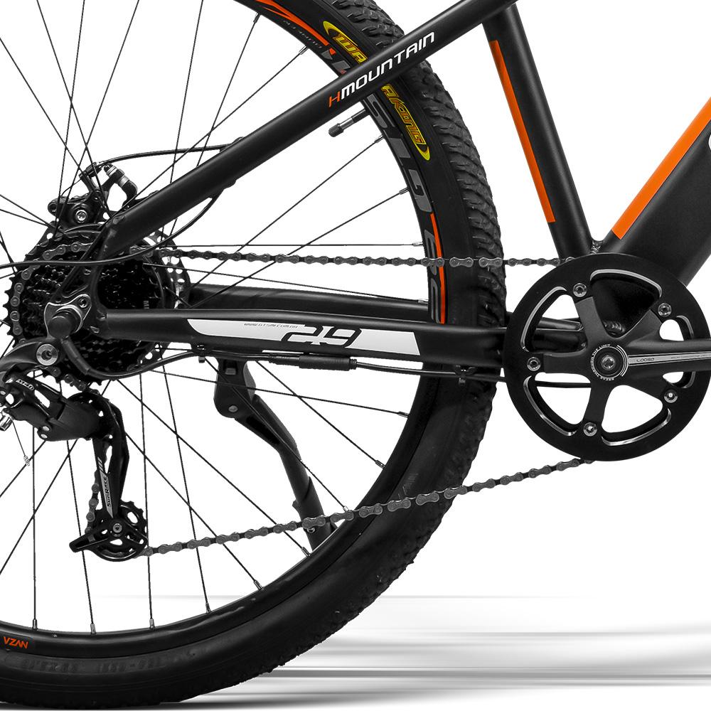 Bicicleta Elétrica aro 29 E-bike GTS M1 Hmountain Motor traseiro 360 Wh 36 v 10 Ah Freio a Disco Câmbio SunRace 8 Marchas e Amortecedor | GTS M1 Elétrica Hmountain 360 Wh 10Ah