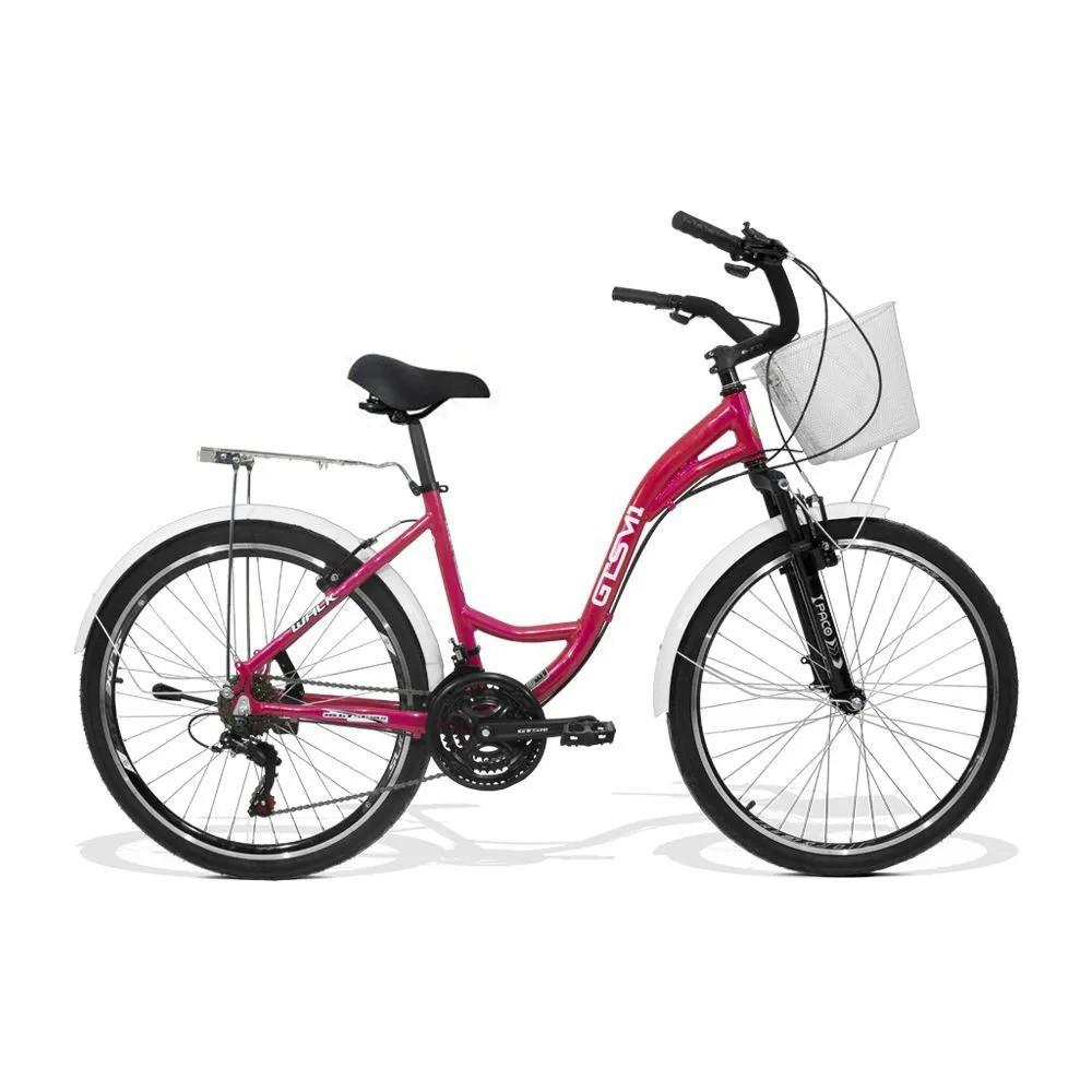 Bicicleta Feminina GTS M1 Walk Urbano Aro 26 Câmbio MX7 21 Marchas / Cestinha / Para-lama  e Freio V-Brake | GTS M1 Walk Urbano