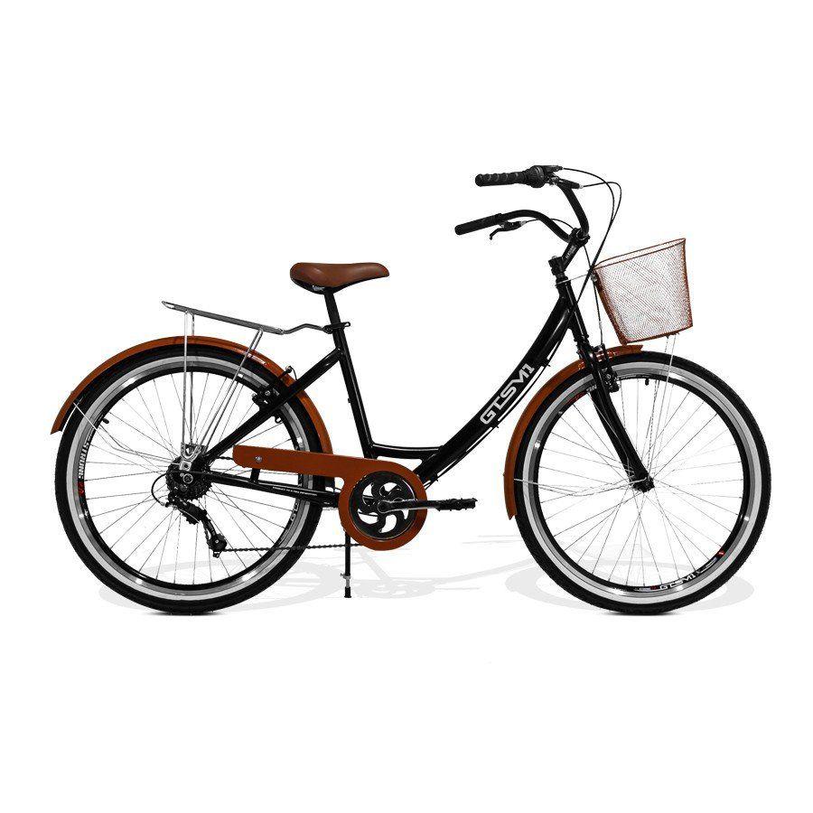 Bicicleta Feminina GTS Retrô Aro 26 Câmbio GTSM1 TSI 7 Marchas Freio V-Brake | GTS M1 KS Retrô