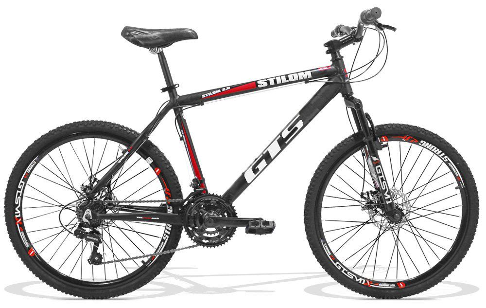 Bicicleta GTS Aro 26 Freio a Disco Câmbio Shimano 21 Marchas | GTS M1 Stilom 2.0