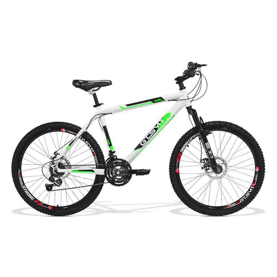 Bicicleta GTS Aro 26 Freio a Disco Câmbio Traseiro Shimano 21 Marchas Amortecedor e Velocímetro de Brinde | Walk New