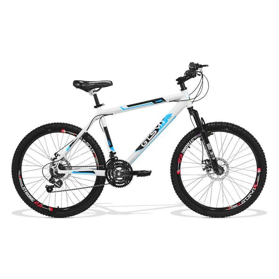 Bicicleta GTS Aro 26 Freio a Disco Câmbio Traseiro Shimano 21 Marchas Amortecedor    Walk New