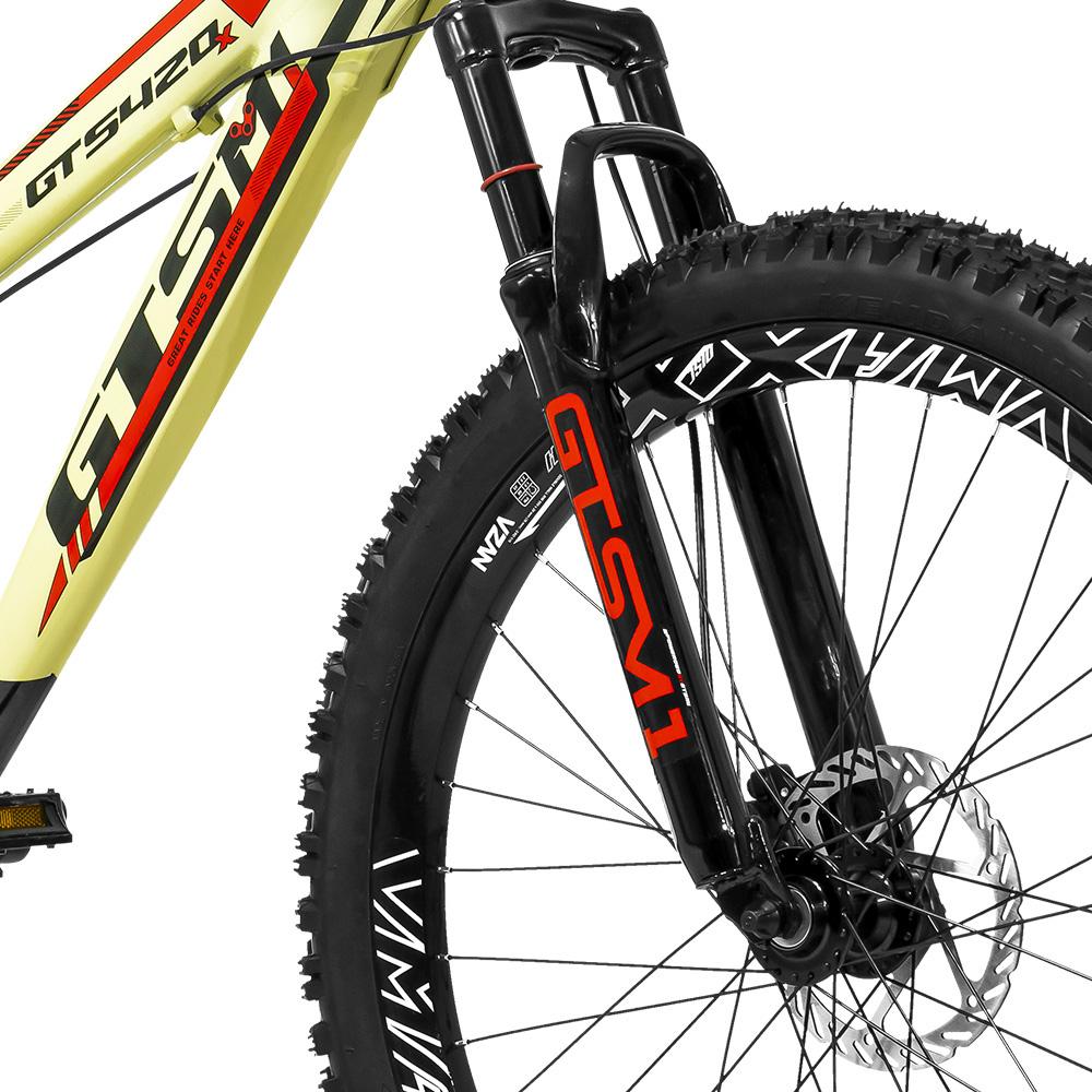 Bicicleta GTS Aro 26 Freio a Disco Hidráulico Câmbio GTS TSI 7 Marchas e Amortecedor | GTS M1 420x FreeRide
