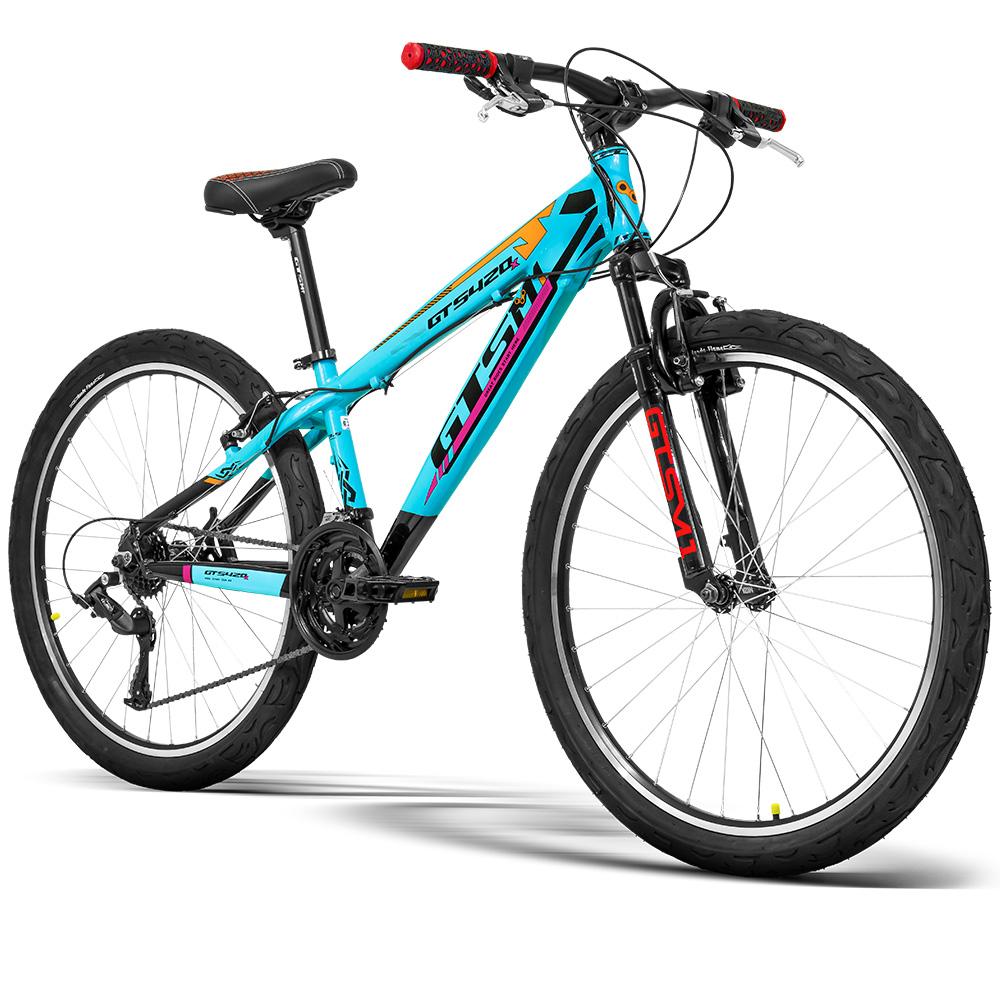 Bicicleta GTS Aro 26 Freio V-Brake Câmbio GTS TSI 21 Marchas e Amortecedor | GTS M1 420x FreeRide
