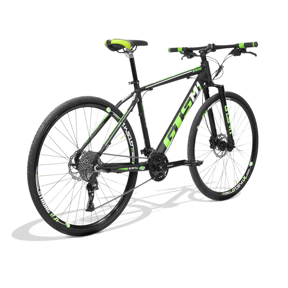 Bicicleta GTS Aro 29 Dynamic Corrida  Freio a Disco Hidráulico Câmbio GTS M1 TSI9 27 Marchas, Pneu Slick para Asfalto e Garfo Rígid