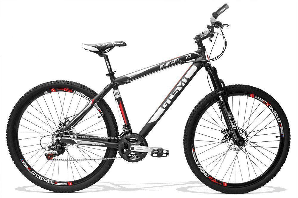 Bicicleta GTS Aro 29 Freio a Disco Câmbio Shimano 21 Marchas e Amortecedor + Velocímetro de Brinde | GTS M1 Advanced New