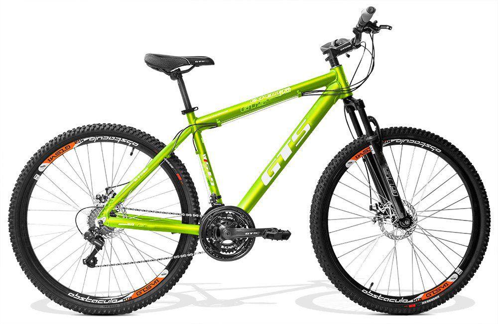 Bicicleta GTS Aro 29 Freio a Disco Câmbio Shimano Tourney 24 Marchas e Amortecedor + Velocímetro e Squeeze com Suporte | GTS M1 Expert 1.0