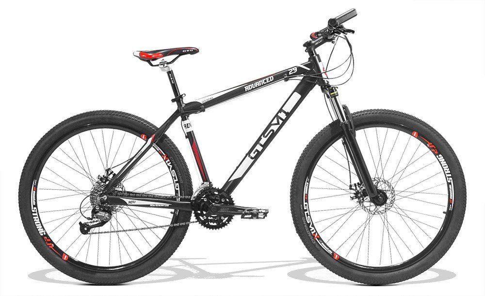 Bicicleta GTS Aro 29 Freio a Disco Câmbio Shimano 27 Marchas e Amortecedor + Velocímetro e Squeeze com Suporte de Brinde | GTS M1 Advanced New