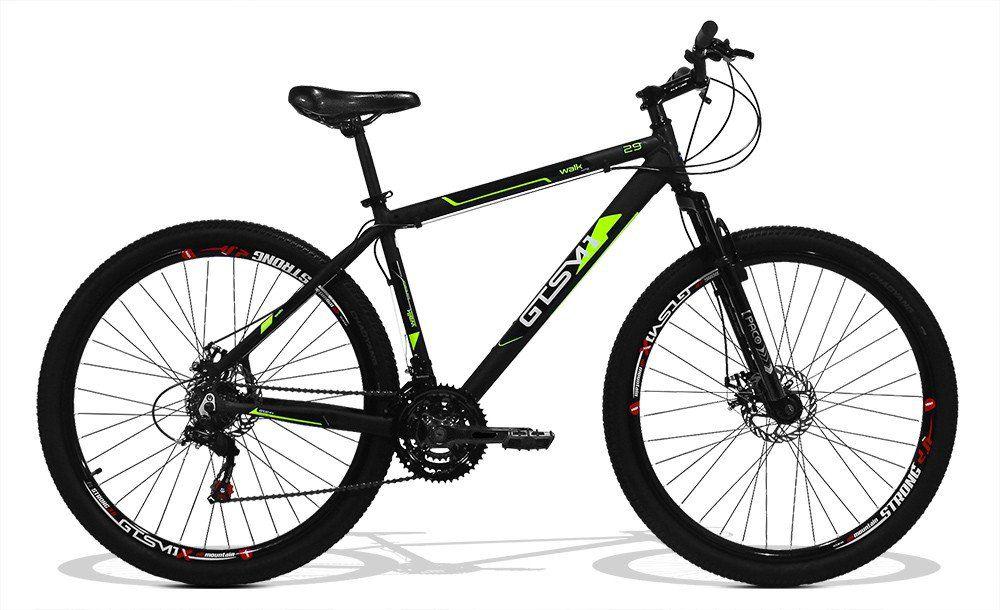Bicicleta GTS Aro 29 Freio a Disco Câmbio 24 Marchas e Amortecedor + Velocímetro Brinde | GTS M1 Walk New
