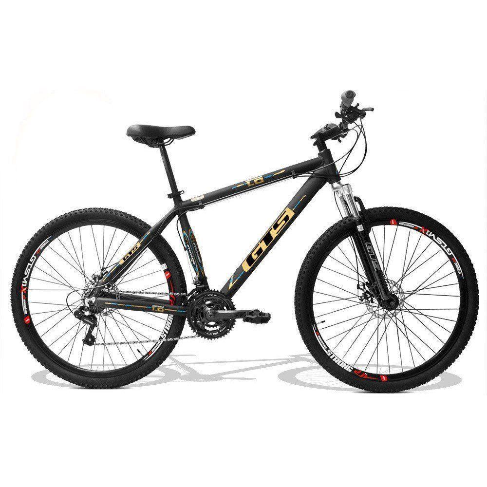 Bicicleta GTS Aro 29 Freio a Disco Câmbio Traseiro Shimano 24 Marchas e Amortecedor + Velocímetro e Squeeze com Suporte de Brinde | GTS M1 Obstaculo 1.0